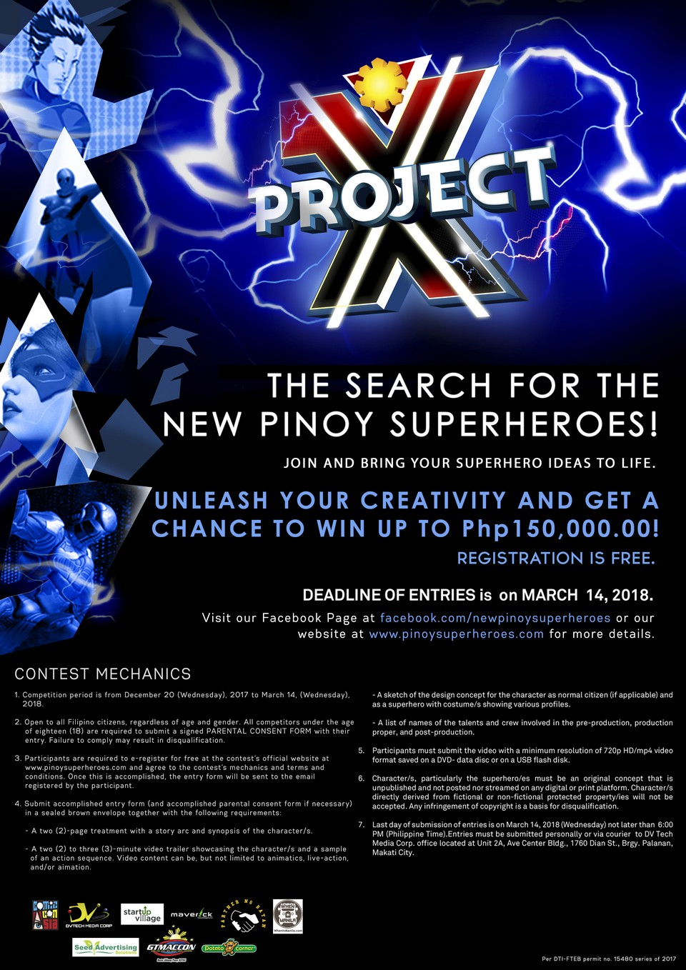 The Search for New Pinoy Superheroes is on with Project X with